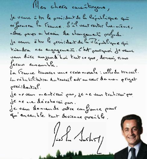 Analyse Graphologique De Sarkozy